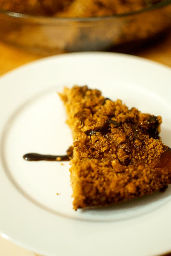 Prăjitură cu mere și unt de arahide
