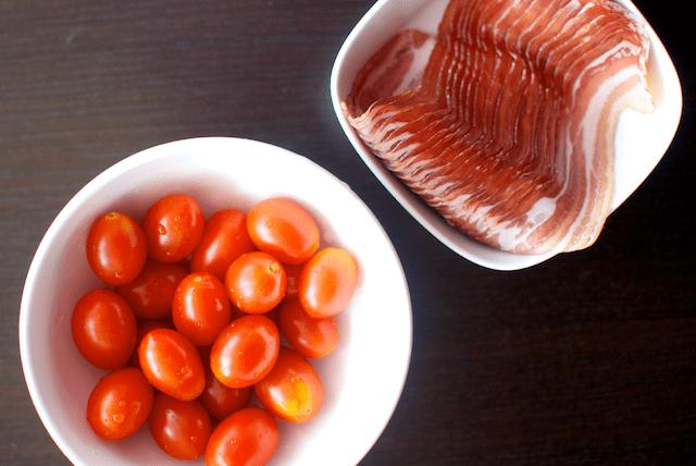 Bacon roșii cherry