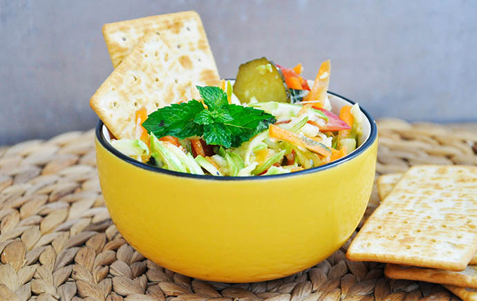 Zucchini-Salad-with-Mint-Pickles-Salata-de-dovlecel-cu-menta-castraveciori