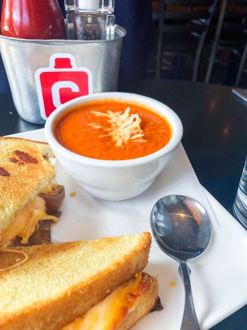 Grilled Cheese and Tomato Soup at Canteen