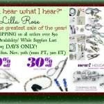 Black Friday Sale For Lilla Rose, Deborah & Co, JIC