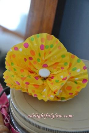 Cupcake Liner Paper Flowers