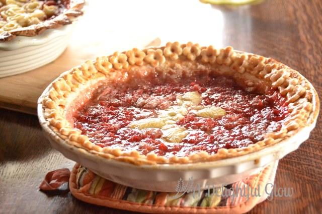 Rhubarb Surprise Pie