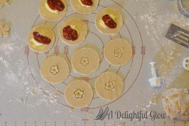 Strawberry Rhubarb Cream Cheese Hand Pies