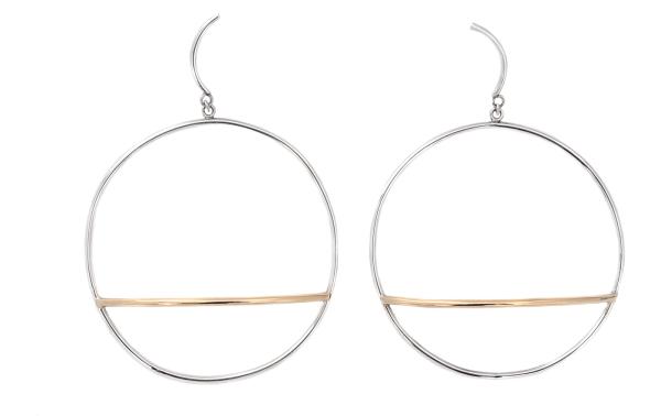 Adeline Cacheux Jewelry Design Boucles d'oreilles Argent Or 18 carats