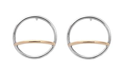 Adeline Cacheux Jewelry Design Boucles d'oreilles Pure Circles Argent Or 18 carats