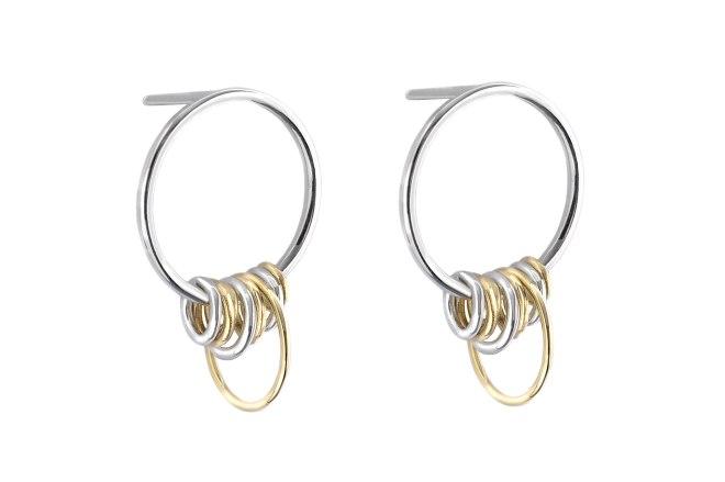 Boucles d'oreilles multi-cercles