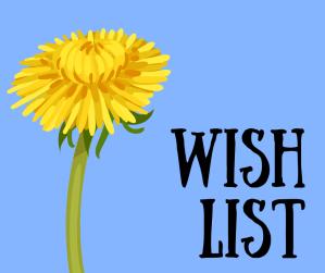 Blue background, yellow dandelion