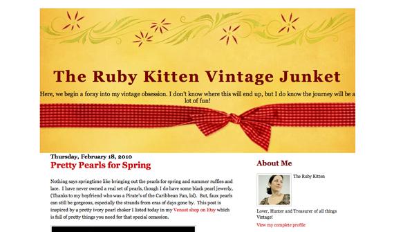 Ruby Kitten Vintage Junket