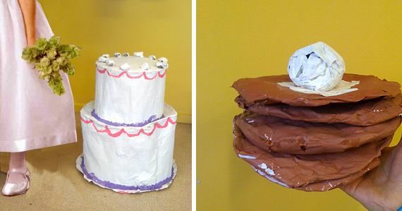 wedding cake pancake sculpture