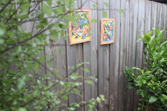 Ceramic Fence Art