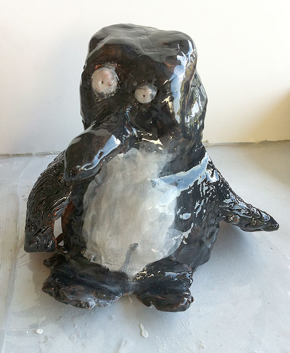 ceramic bird sculptures