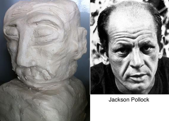 jackson-pollock-clay-bust