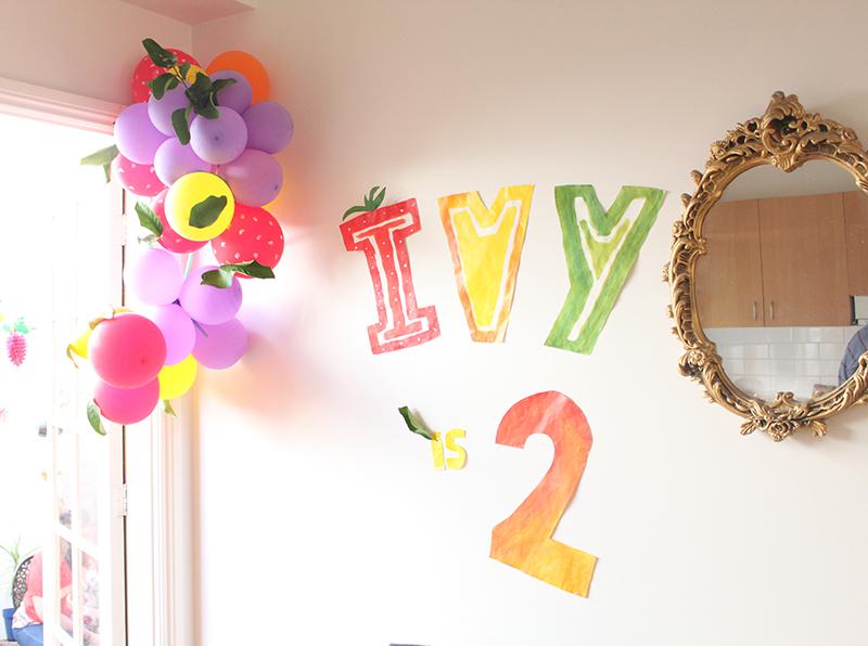 Tutti frutti balloons