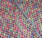 Granny square triangle shawl
