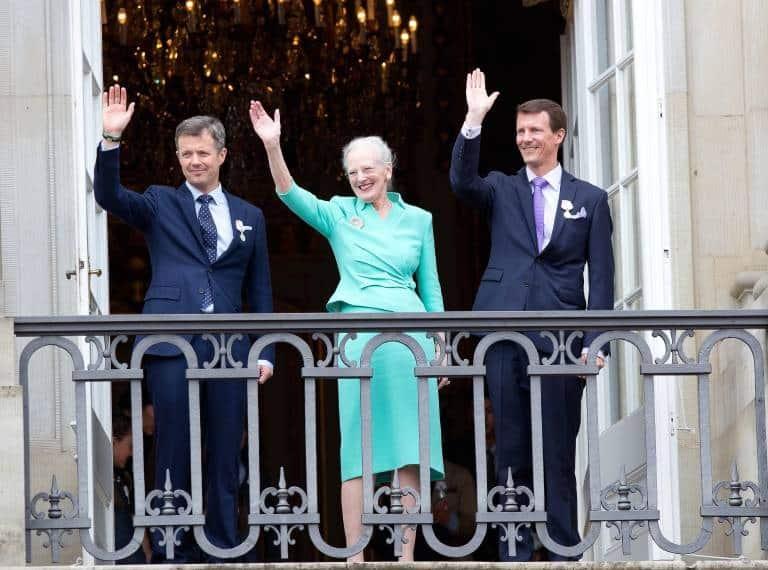 Kronprinz Frederik, Königin Margrethe und Prinz Joachim