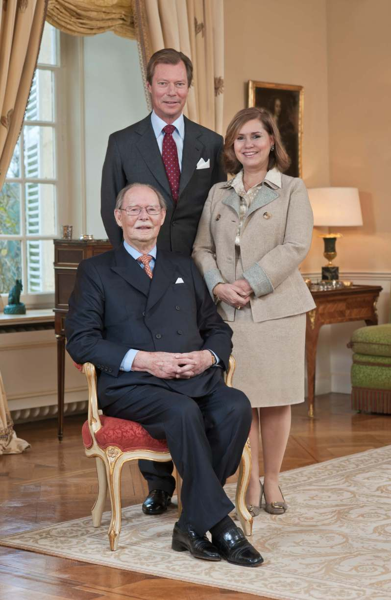 Großherzog Jean mit Sohn Henri