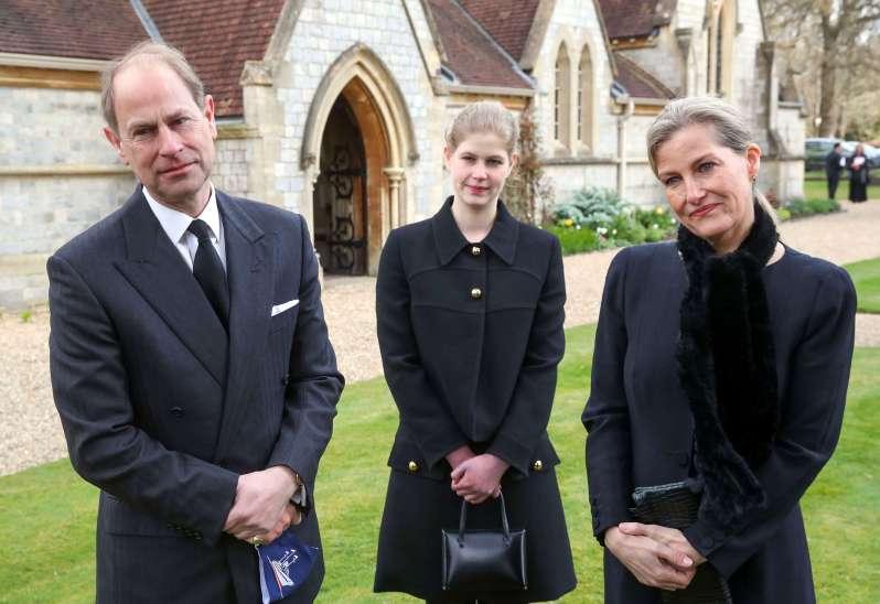 Prinz Edward, Lady Louise und Gräfin Sophie