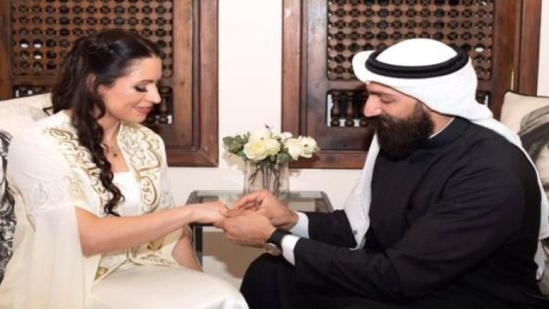 زواج مصارعان يعتبر الأول من نوعه في العالم العربي