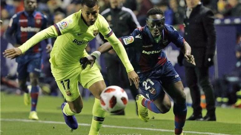 ليفانتي يهزم برشلونة في ذهاب كأس الملك