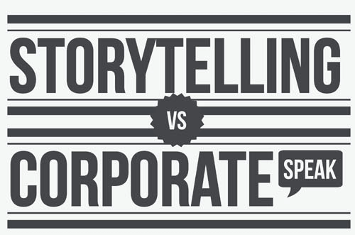 Storytelling vs corporate speaking