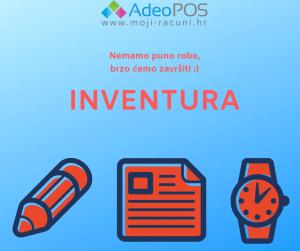 Adeo POS Fiskalna blagajna - Inventura - Popisna lista