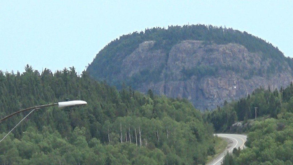 Mount Cheminis - Canada - Split in half like two Pillars