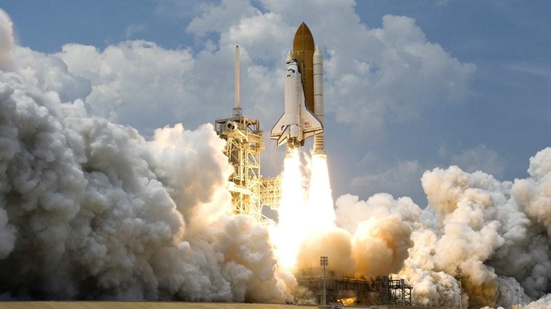 A rocket launching