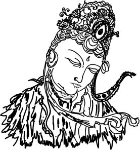 Free hand drawing of Tara