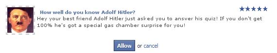 Hitler - funny facebook quiz