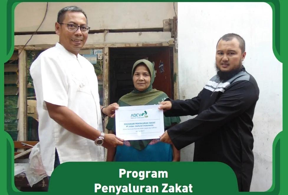 program csr adevnatural penyaluran zakat 27 September 2017