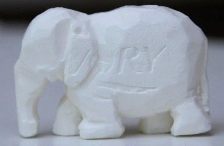Gambar ukiran patung gajah dari sabun