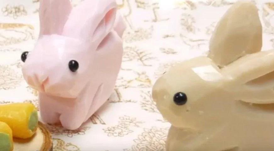 Gambar kerajinan dari sabun berbentuk kelinci