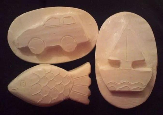 Gambar kerajinan sabun bentuk mobil dan perahu