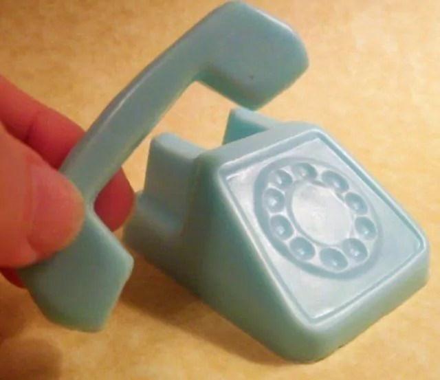Gambar kerajinan sabun bentuk telepon