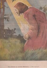 Ziarul Universul de Paste Iisus pe Muntele Maslinilor (1906,gravuracolor)
