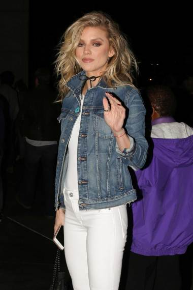 annalynne-mccord-denim-jacket-white-flare-jeans