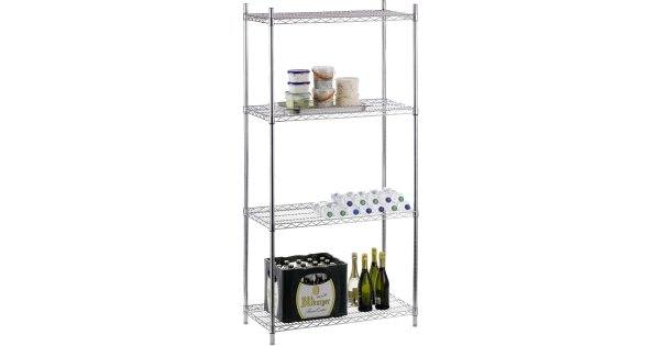 Commercial Shelving unit 4 tier Width 900mm Depth 450mm