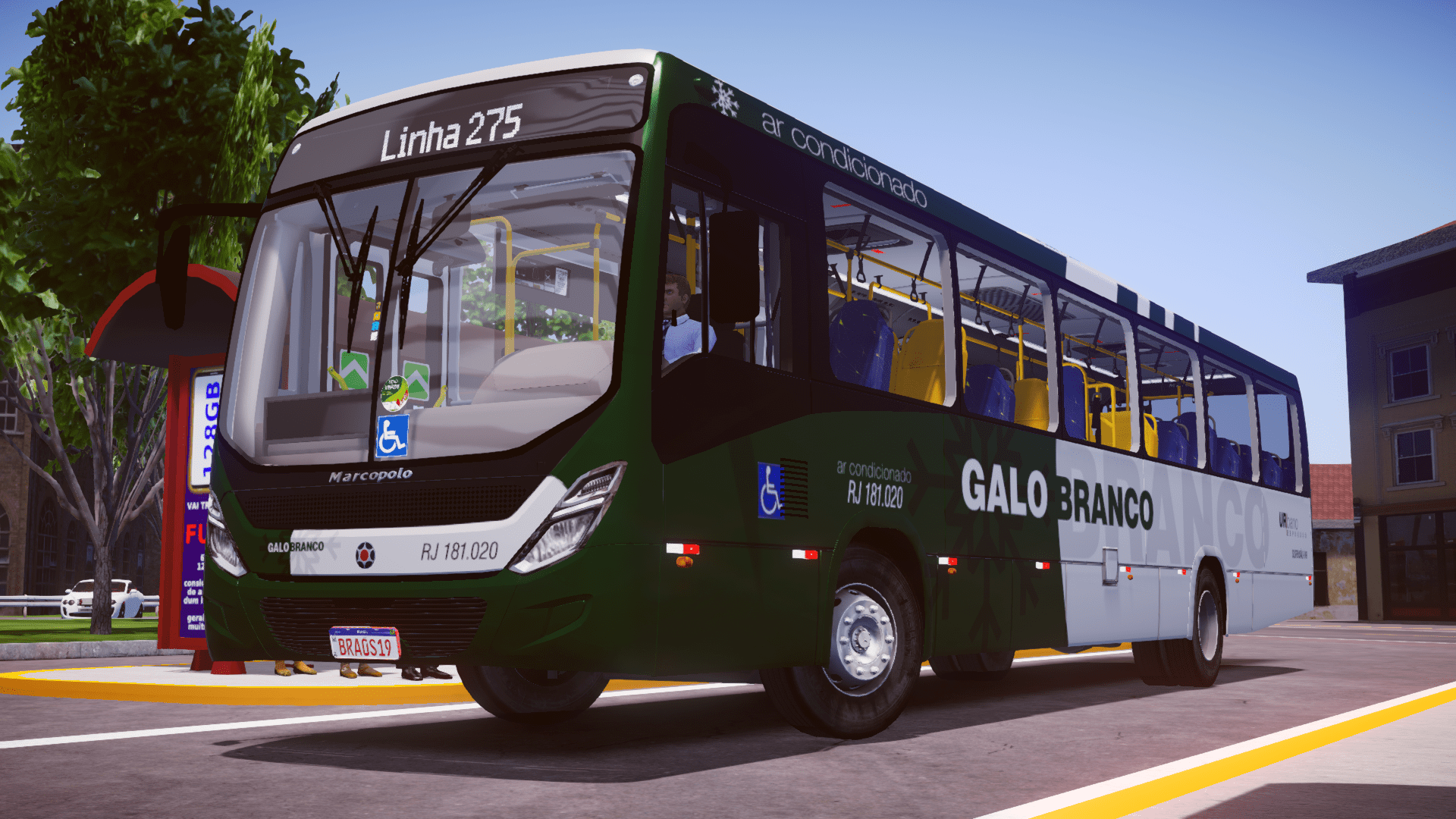Marcopolo New Torino 2018 MB OF-1721L BlueTec 5 (Fase 2) para Proton Bus Simulator