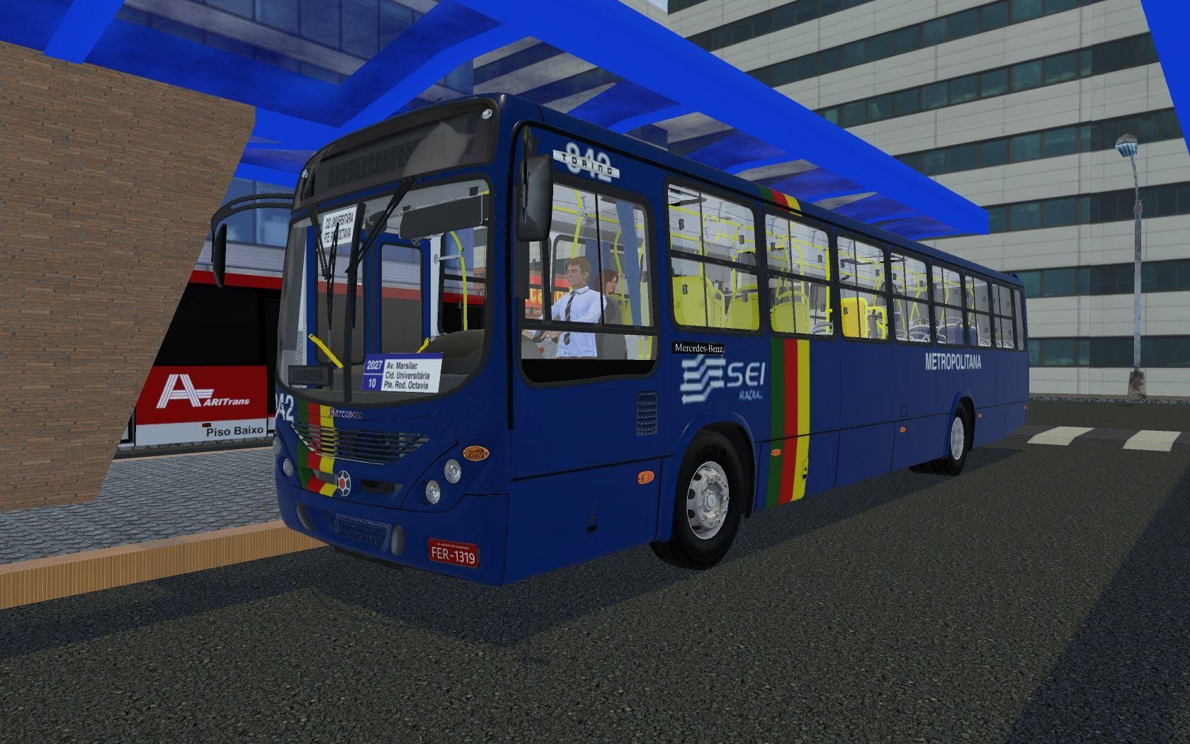 Marcopolo Torino 2007 MB OF-1722M (Fase 2) para Proton Bus Simulator