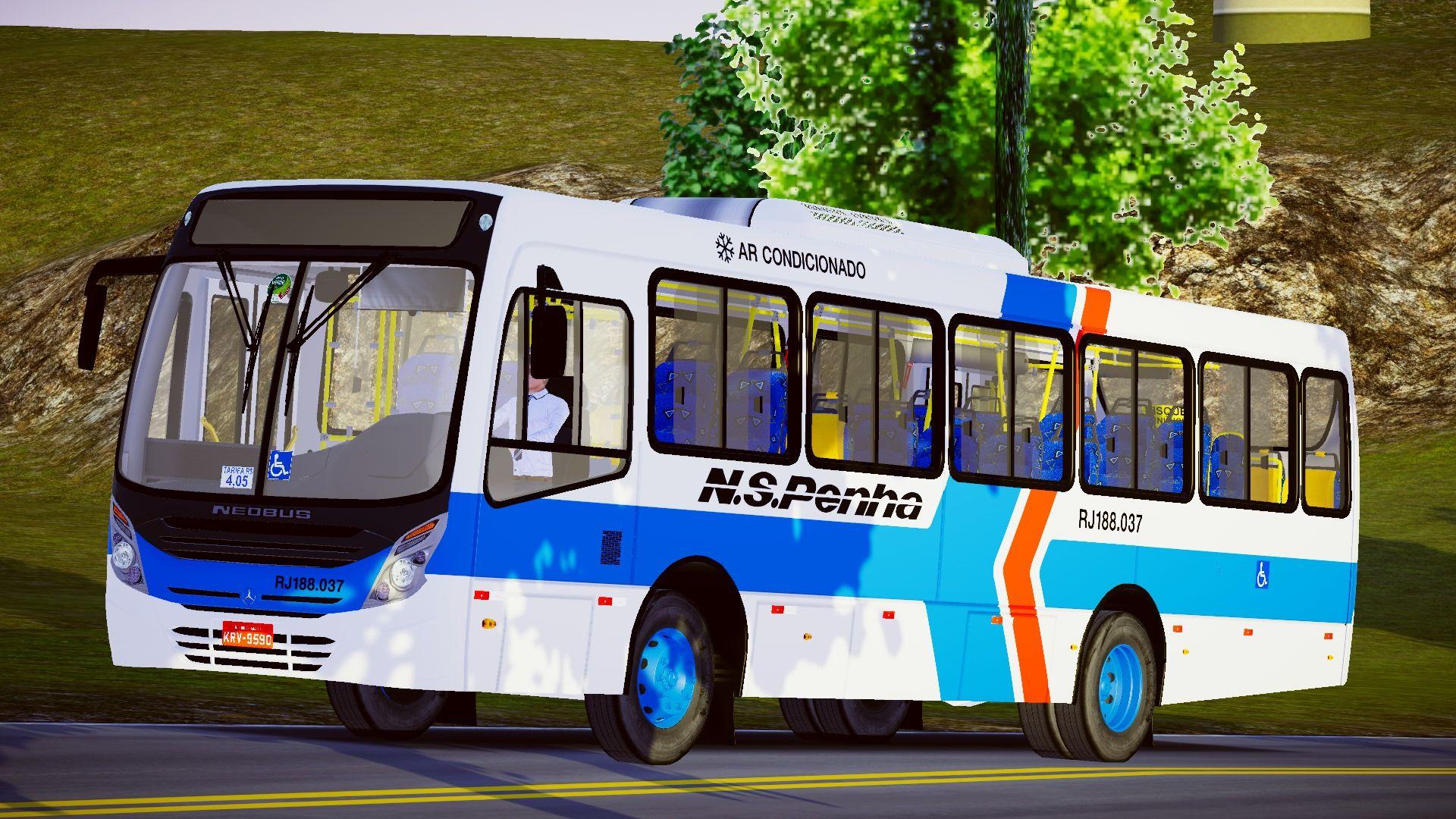 Neobus Mega Plus MB OF-1519 BlueTec 5 – Padrão Viação Nossa S. Penha (Fase 2) para Proton Bus Simulator/Road