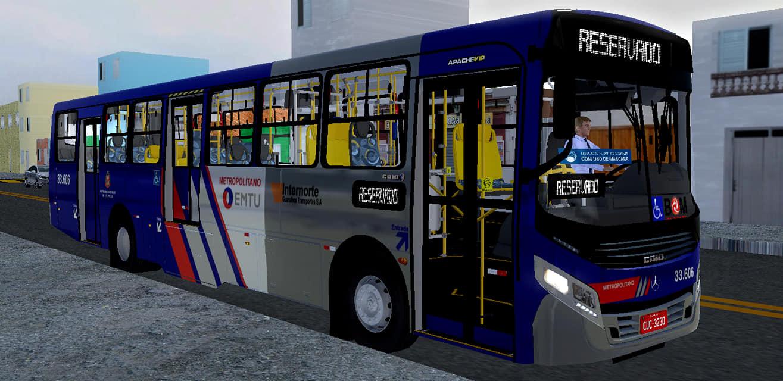 Caio Apache Vip IV MB OF-1721L BlueTec 5 – Padrão Guarulhos Transportes (Fase 2) para Proton Bus Simulator/Road