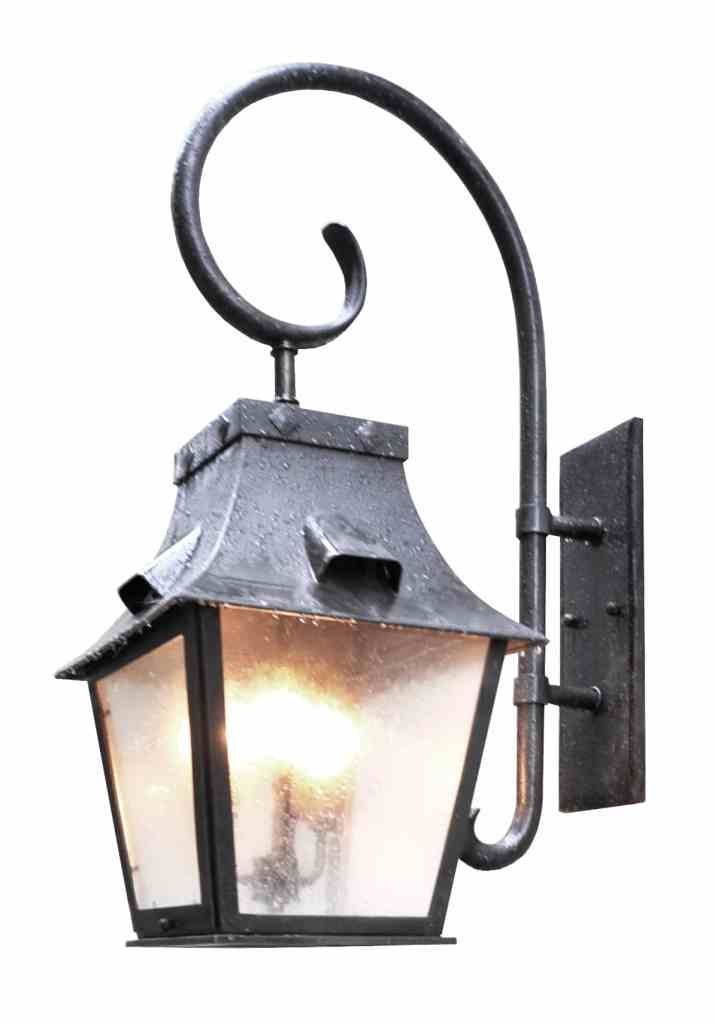 80496 Cb4 Br W Shba Large Traditonal Lantern With Forged Scroll Arm Brass Lantern 1 ADG Lighting