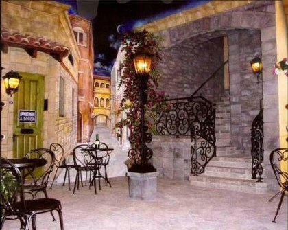 Faux French Courtyard Home Theater Rancho Sante Fe Custom Lanterns Gerald Olesker Of ADG