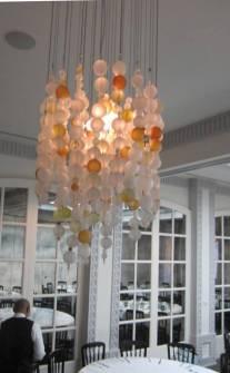 Spago Glass Ball Chandelier