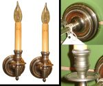 Vintage Round Nickel Sconce