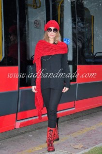Knitting Scarf & Beret by adhandmade