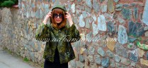 Green Fur Coat; Sewing by AD (adhandmade)