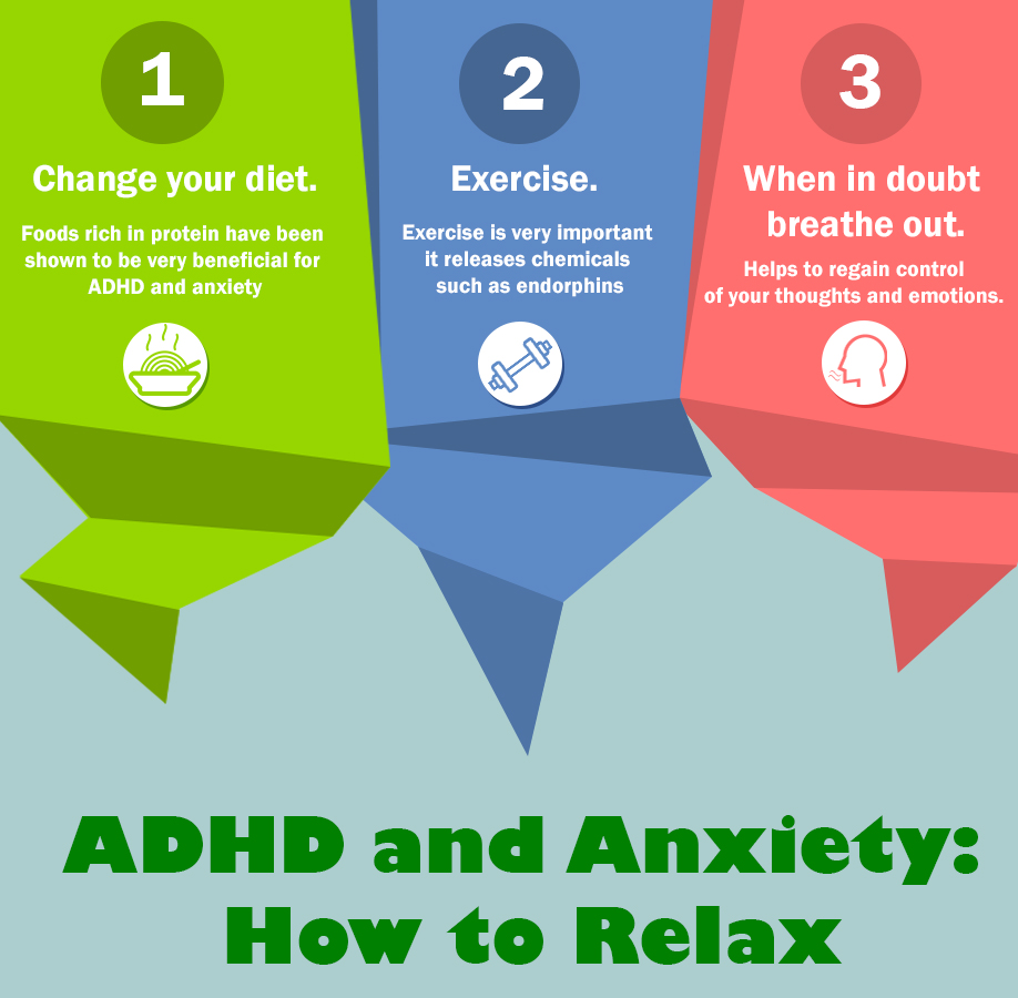 adhd and anxiety-how to relax infographics adhd centre uk