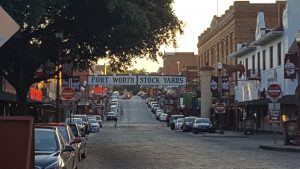 Fort Worth Stock Yards -- street view